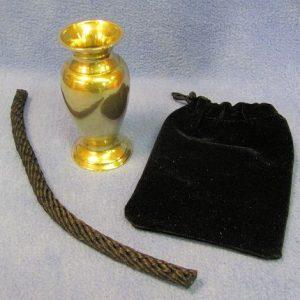 Brass Chinese Prayer Vase - Style A