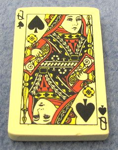 Card Eraser Queen of Spades