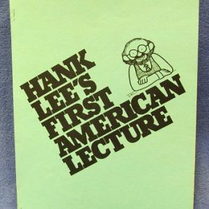 Hank Lee First American Lecture