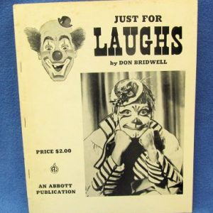 Just For Laughs Don Bridwell Abbott's Magic Co.