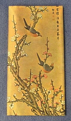 Korean Decorative Bi-Fold Wallet - Birds