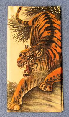 Korean Decorative Bi-Fold Wallet - Tiger