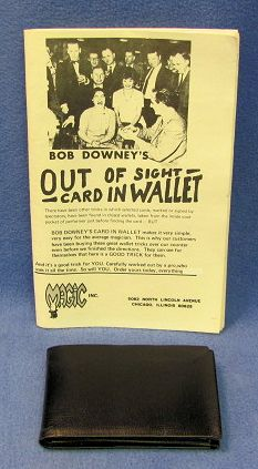 Out Of Sight Card In Wallet Bob Downey
