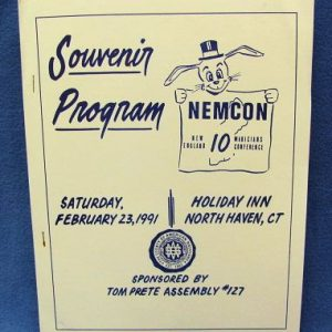 Souvenir Program Booklet NEMCON 10