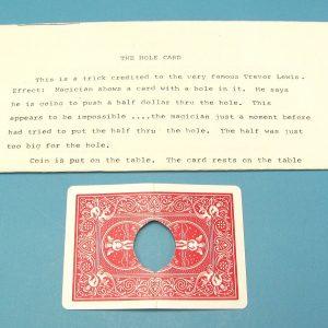 The Hole Card Coin Penetration
