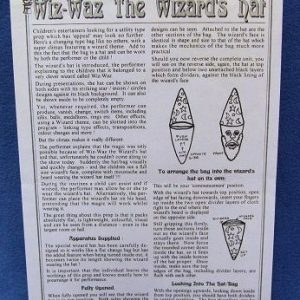 Wiz-Wax The Wizards Hat Instructions