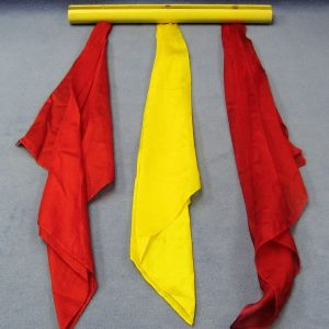 Acrobatic Silks (Yellow Pole With Red and Yellow Silks)