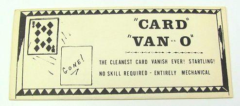 Card Van-O by Stan Lobenstern