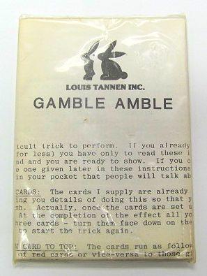 Gamble Amble (Louis Tannen) NOS