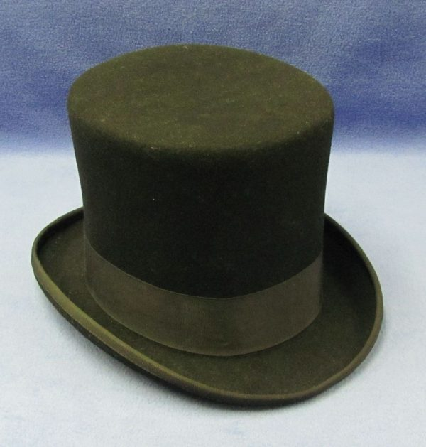 Wool Top Hat With Flat Top