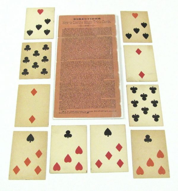 Antique Magic Cards and Original Instructions