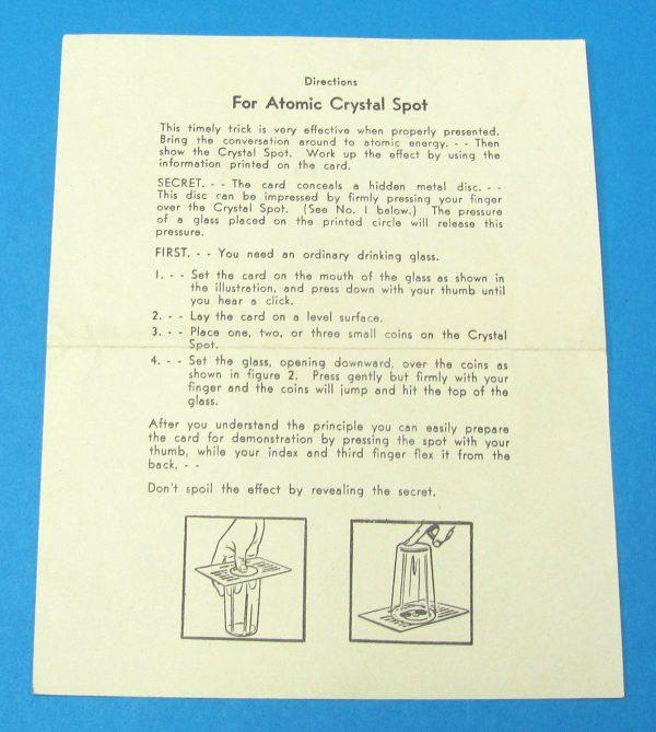 Adams' Atomic Crystal Spot Instructions (White)