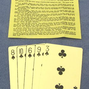 Adams' Phantom Cards Without Envelope