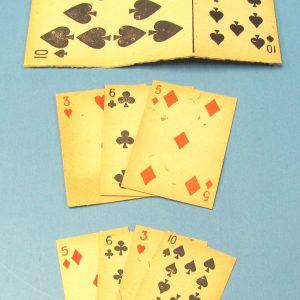 Antique Diminishing Cards
