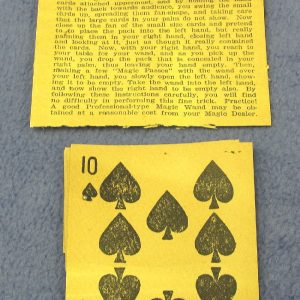 Antique - The Diminishing Card Trick