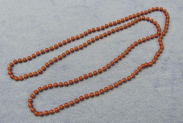 Bead Necklace - Reddish Brown