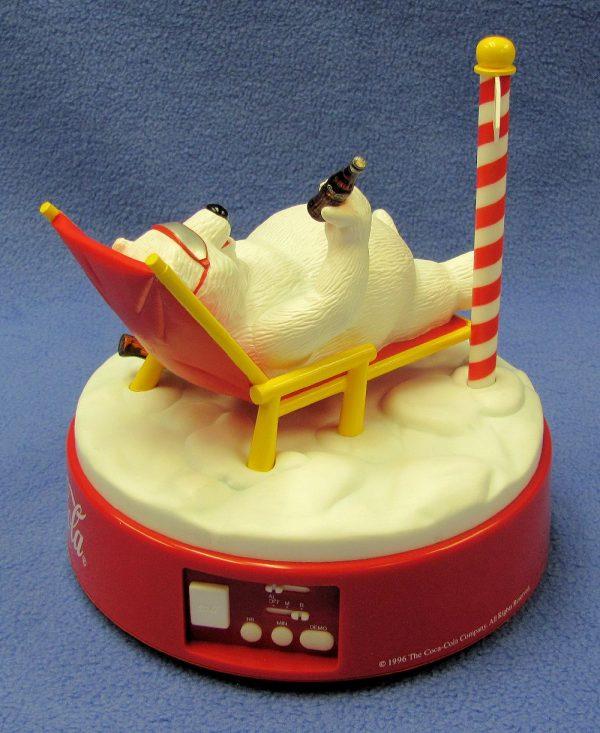 Coca Cola Polar Bear Musical Alarm Clock-3
