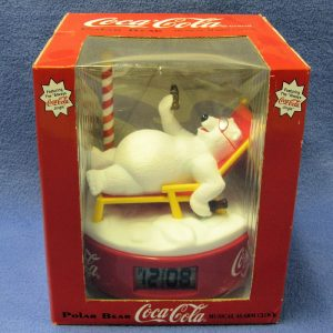 Coca Cola Polar Bear Musical Alarm Clock