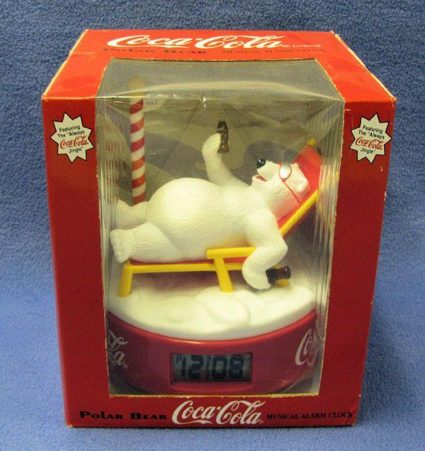 Coca Cola Polar Bear Musical Alarm Clock