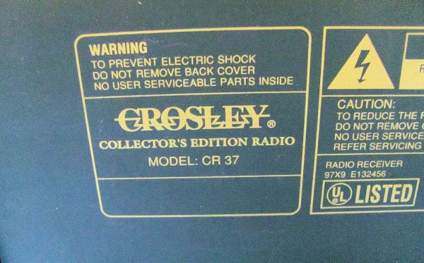 Crosley Collector's Edition Radio - Model CR-37-3