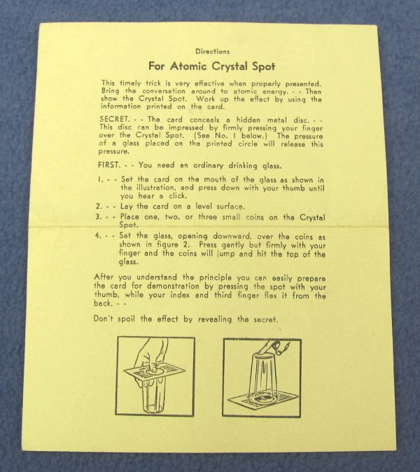 Directions For Adams' Atomic Crystal Spot - White Paper