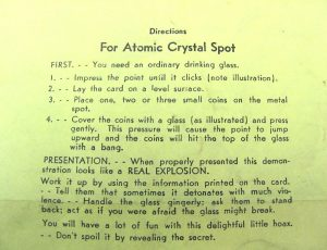 Directions For Adams' Atomic Crystal Spot - Yellow Paper-2