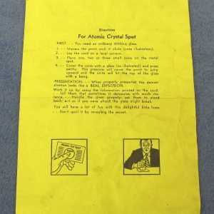 Directions For Adams' Atomic Crystal Spot - Yellow Paper