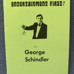 George Schindler Lecture Notes - Entertainment First