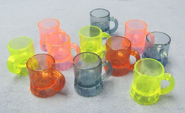 Mini Plastic Mugs - Lot of 11