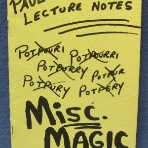 Paul Diamond Lecture Notes - Misc. Magic