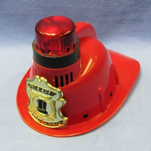 Plastic Fireman's Helmet With Lights and Sound