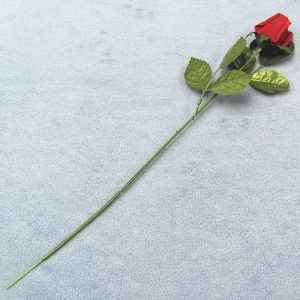 Red Felt Long Stem Rose