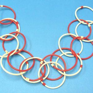 Vintage Royal Plastic Tumbling Rings
