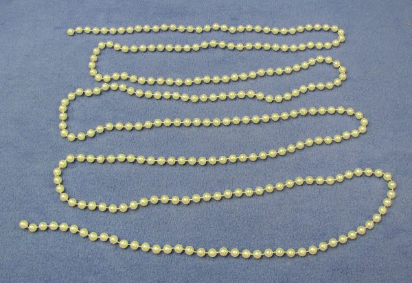 White Production Beads - 9 Feet