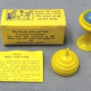 Adams' Ball & Vase - Yellow Vase With Blue Ball (Vintage)