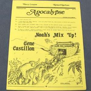 Apocalypse Vol 1 Number 5 May 1978