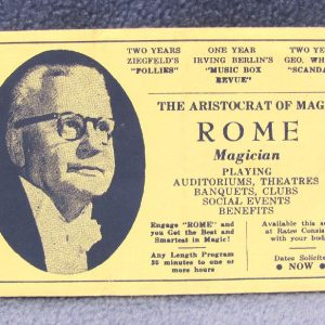 Rome The Magician Ephemera