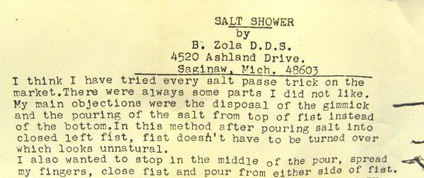 Vintage Salt Shower (Zola)