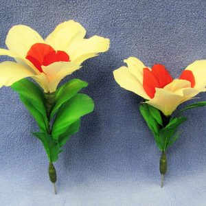 Small White Bloom Feather Dart Flowers (Pair)