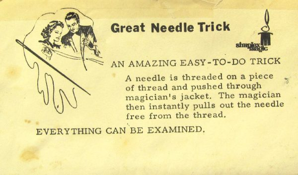 The Great Needle Trick (Simplex Magic)