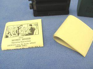 Vintage Adams' Black Money Maker With Box-4