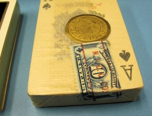 Vintage Pair of Playing Cards Deluxe #142 in Case-3