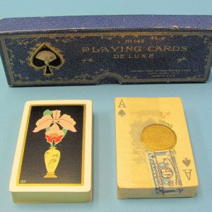 Vintage Pair of Playing Cards Deluxe #142 in Case