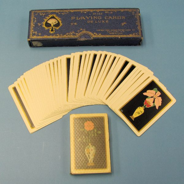 Vintage Pair of Playing Cards Deluxe #142 in Case-4
