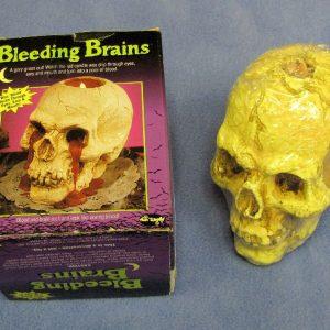 Bleeding Brain Skull Candle