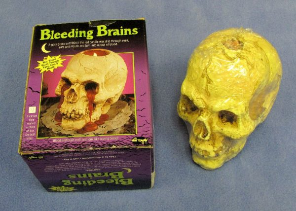 Bleeding Brain Skull Candle