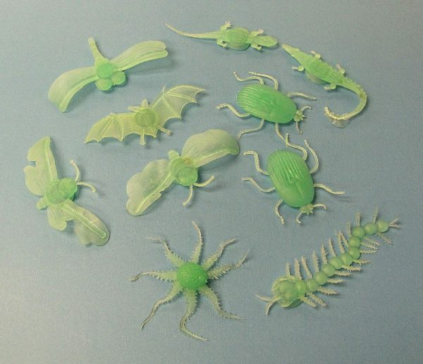 Glow in the Dark Insects (Lot of 10)