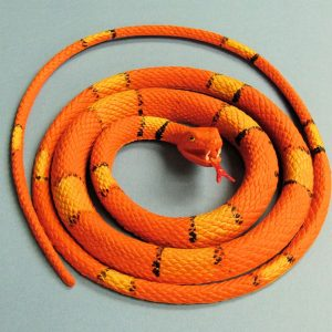 Rubber Snake - Orange and Yellow