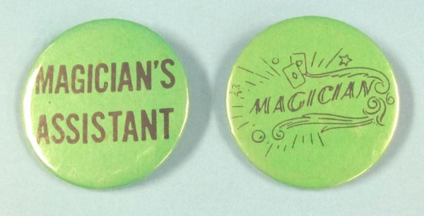 Magician and Magician's Assistant Pin Back Buttons