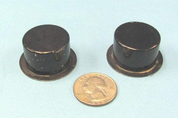 Pair of Mini Metal Top Hats